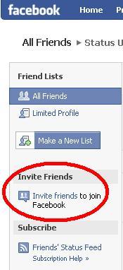 Inivite friends