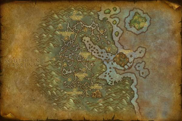 Cataclysm Theramore map