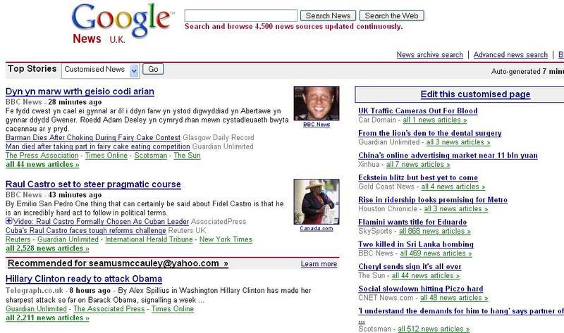 Googlenewswelsh